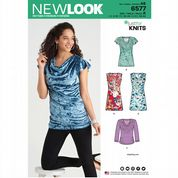 6577 New Look Pattern: Misses' Cowl Neck Tops